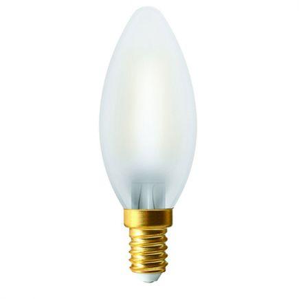 Ecowatts - Flamme C35 Filament LED (2pcs) 4W E14 2700K 400Lm Mat