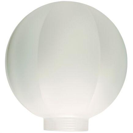 Verreire Globe D100 p.vis 31,5mm Opaline à facettes