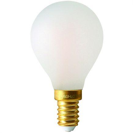 Golfball G45 Filament LED 5W E12 2700K 580lm Dim Mat.