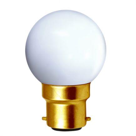 Sphérique LED 1W B22 4000K 80Lm Blanc