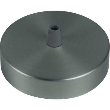 Pavillon acier sortie simple Ø100mm gris clair mat