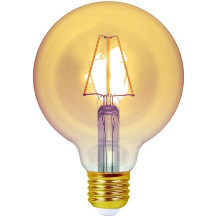 Ecowatts - Globe G95 Filament LED 4W E27 2200K 320Lm Dim. Amb.