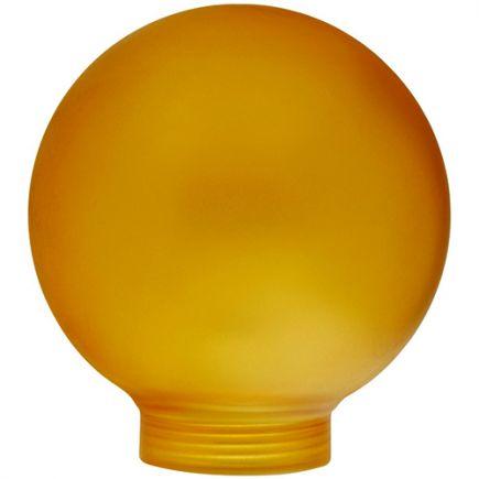 Verrerie Globe D80 p.vis 31,5mm Ambrée