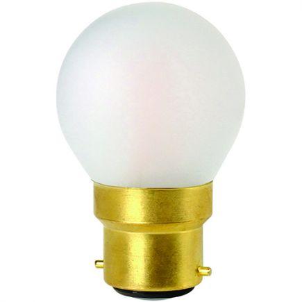 Sphérique G45 Filament LED 4W B22 2700K 330Lm Dim. Mat