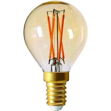 Sphérique G45 Filament LED 4W E14 2200K 260Lm Dim. Amb.