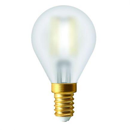 Ecowatts - Sphérique G45 Filament LED 4W E14 2700K 400Lm Mat
