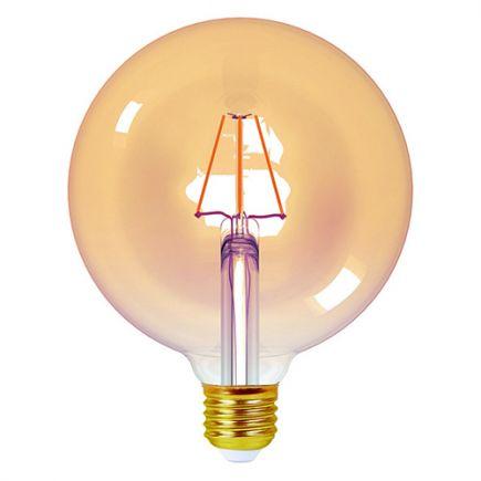 Ecowatts - Globe G125 Filament LED 4W E27 2200K 360Lm Dim. Amb.