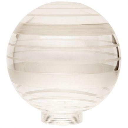 Verrerie Globe D100 p.vis 31,5mm Claire Strillée