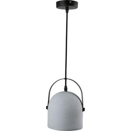 CONCRETE - suspension - black canopy - E27