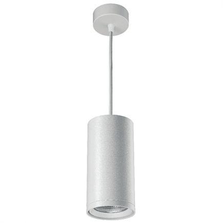 Atlas - Spot suspendu LED Ø85x2500 12W 3000K 1020lm 20° blanc