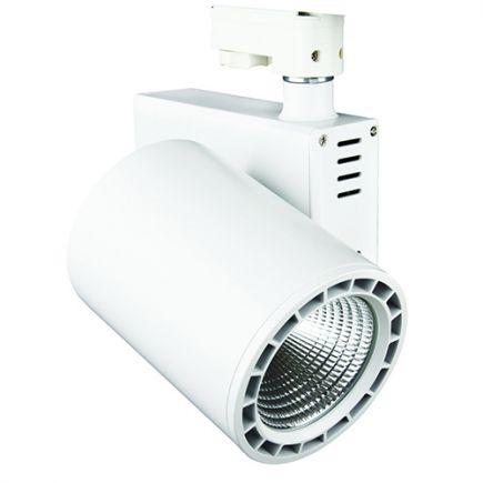 Jacinto - Projecteur sur rail LED Ø99 x 148 20W 3000K 1700lm 36° blanc