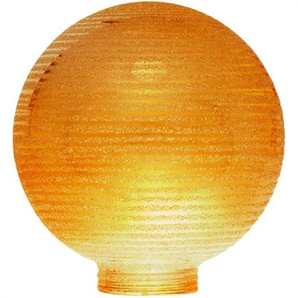 Verrerie Globe D100 p.vis 31,5mm Ambrée Strillée