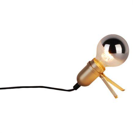 FS EL Lampe à poser E27 Max.40W Doré cable L.120cm avec interrupteur Noir