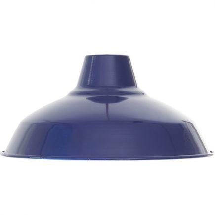 Abat-jour métal industriel ø270mm bleu outremer satiné