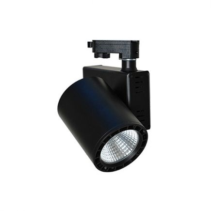 Jacinto - Projecteur sur rail LED Ø99 x 148 20W 3000K 1700lm 36° noir