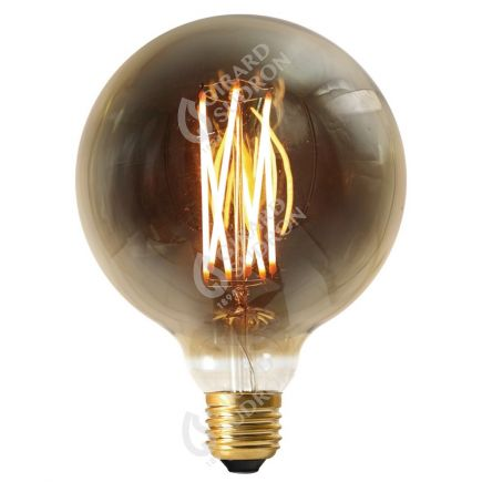 Globe G125 Filament LED 6W E27 2100K 300Lm Dim. Smoky RA>90