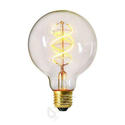 Globe G95 Filament LED TWISTED 4W E27 2000K 240Lm Dim. Cl.