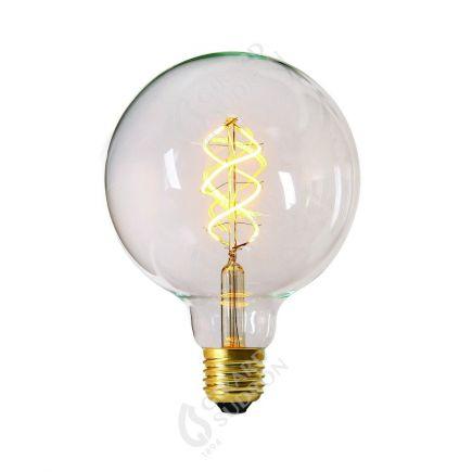 Globe G125 Filament LED TWISTED 4W E27 2200K 240Lm Dim. Cl.