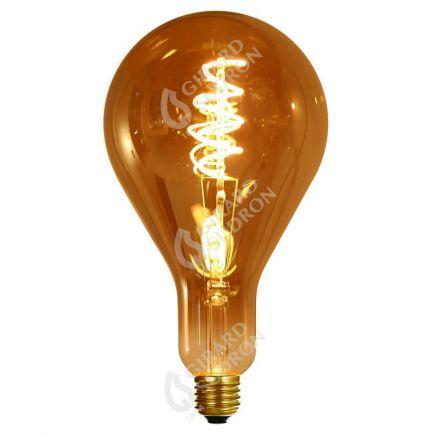 Ampoule Géante Filament LED TWISTED 240mm 4W E27 2000K 160Lm Dim. Smoky