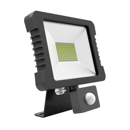 Yonna - Projecteur LED IP 65 200x228.5x34.5 30W 4000K 2280lm 110° noir PIR