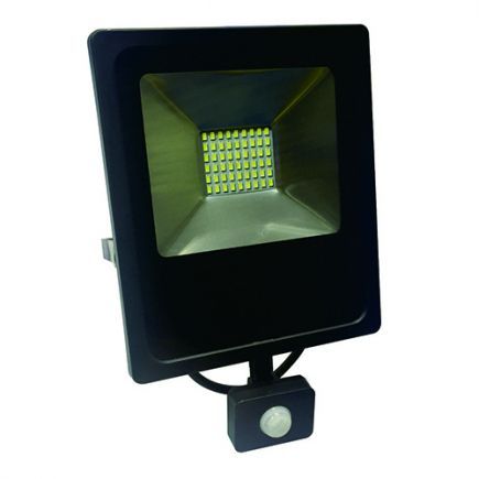 Isonoe - EcoWatts - Projecteur LED IP 65 235x64x285 50W 3000K 4000lm 120° noir