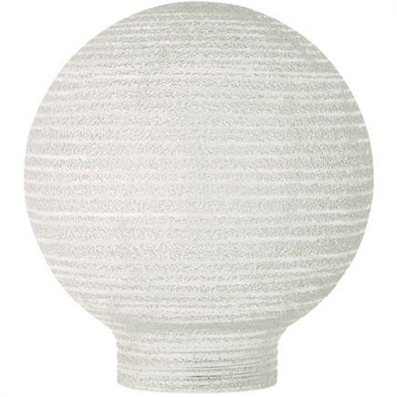 Verrerie Globe D80 p.vis 31,5mm Opaline Strillée