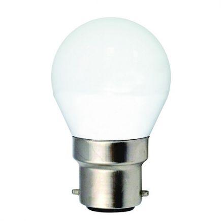 Sphérique G45 LED 330° 5W B22 2700K 400Lm Dépolie
