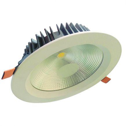 Alhena - Spot encastré LED Ø230x72 enc.Ø200 25W 3000K 2130lm 108° blanc