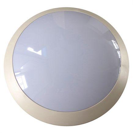 Lenie - EcoWatts - Plafonnier IP 66 Ø300x100 E27 18W max blanc