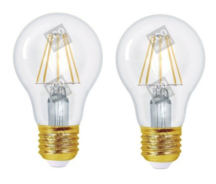 Ecowatts - Standard A60 Filament LED (2 Pcs) 4W E27 2700K 440Lm Cl.