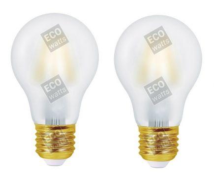 FS Ecowatts - Lot de 2 Ampoules Filament LED - Standard A60 8W E27 4000K Mat 3125469986980