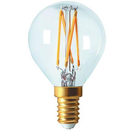 Sphérique G45 Filament LED 4W E14 2700K 320Lm Dim. Cl.