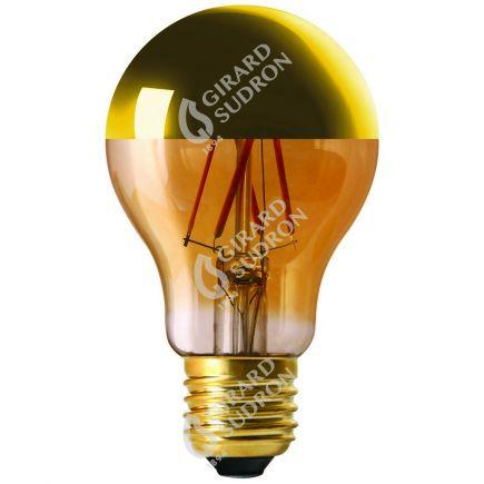 "Standard A60 Filament LED ""Calotte Dorée"" 6W E27 2700K 750Lm Dim."