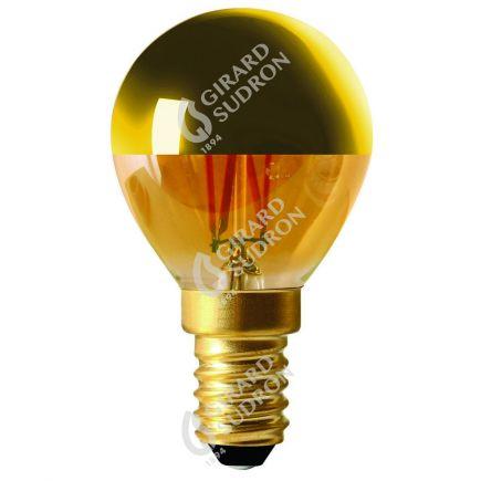 """Sphérique G45 Filament LED """"Calotte Dorée"""" 4W E14 2700K 350Lm Dim."""