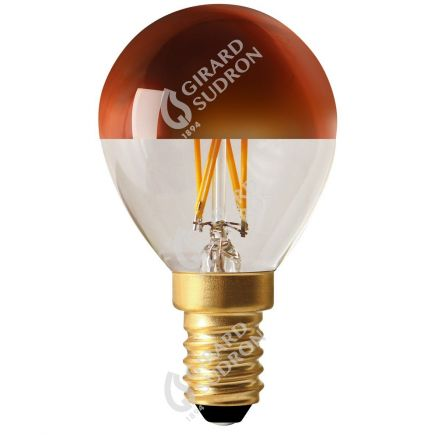 """Sphérique G45 Filament LED """"Calotte Bronze"""" 4W E14 2700K 350Lm Dim."""