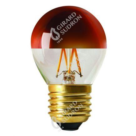 """Sphérique G45 Filament LED """"Calotte Bronze"""" 4W E27 2700K 350Lm Dim."""