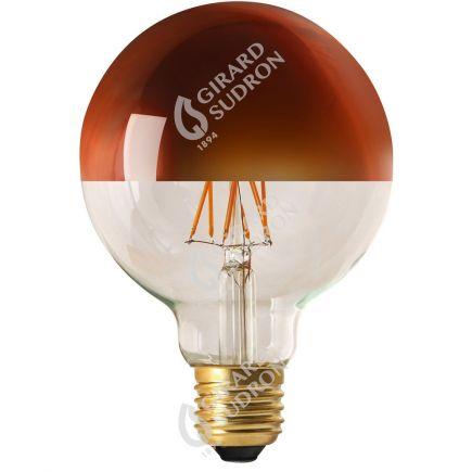 """Globe D95 Filament LED """"Calotte Bronze"""" 8W E27 2700K 950Lm Dim."""