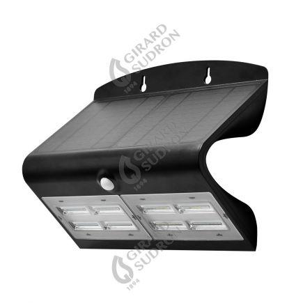 BUTTERFLY - Projecteur solaire LED noir détecteur présence IP65 4000K 6,8W 800lm