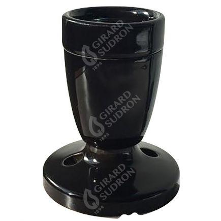 Applique E27 porcelaine noire