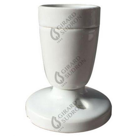Applique E27 porcelaine blanche