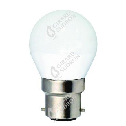 Sphérique G45 LED 330° 5W B22 4000K 410Lm Dépolie