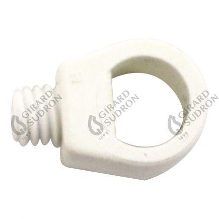 Maintien de câb. av. vis de blocage ext. Ø12mm int.Ø7.4mm blanc