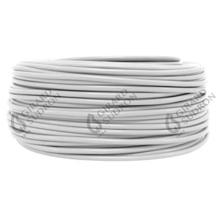 Câble PVC rond double isolation 2 x 0.75mm² L.100m blanc