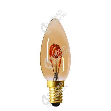 Flamme C35 Filament LED LOOPS 2W E14 2000K 90Lm Amb