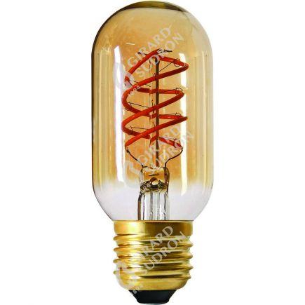 Tube T45 Filament LED TWISTED 110mm 4W E27 2000K 200Lm Dim. Amb.