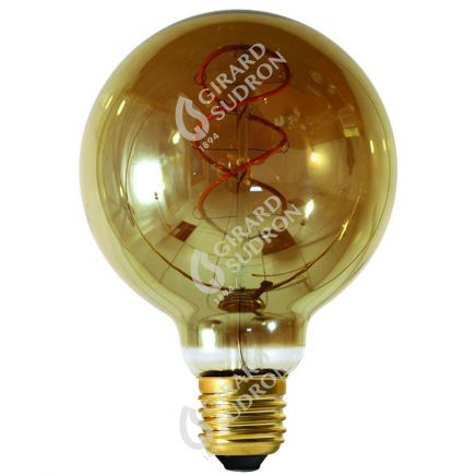 Globe G95 Filament LED TWISTED 4W E27 2000K 160Lm Dim. Smoky