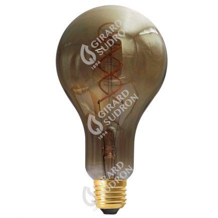 Ampoule Géante Filament LED TWISTED 180mm 4W E27 2000K 160Lm Dim. Smoky