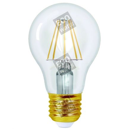 Ecowatts - Standard A60 Filament LED 8W E27 4000K 1055Lm Cl.