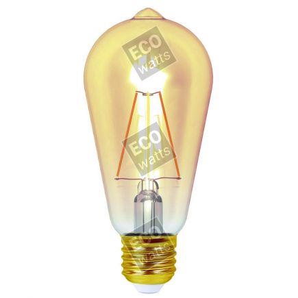 Ecowatts - Edison Filament LED 4W E27 2200K 360Lm Amb.