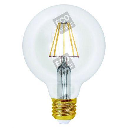 Ecowatts - Globe G95 Filament LED 8W E27 4000K 1055Lm Cl.